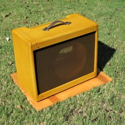 "Blues Jr cabinet, 1x12"". 16""x20""x10"" Shellac & tweed."