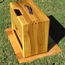 "Poplar Pro Jr cabinet, 1x10"". Boiled linseed oil with gloss polyurethane top coats."
