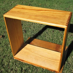 "24""x24""x11"". Radiata pine, boiled linseed oil finish. Could fit a 4x10 or 2x12 cabinet."